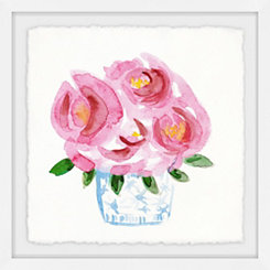 Pink Blooms Framed Art Print