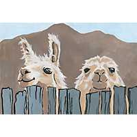 Peekaboo Llamas Canvas Art Print