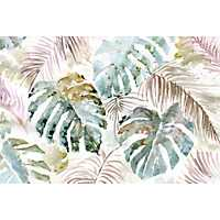 Autumn Palm Leaf Canvas Art Print