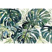 Green Palm Leaf Canvas Art Print