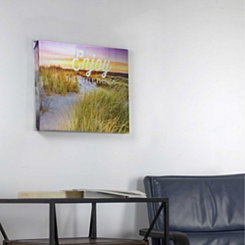 Enjoy Little Things Sandy Beach Canvas Art Print