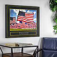 Freedom Patriotic Canvas Art Print