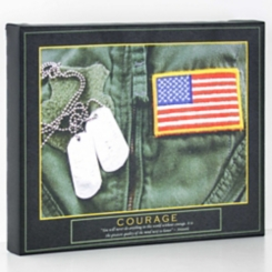Courage Armed Forces Canvas Art Print