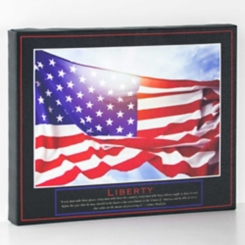 Liberty US Flag Canvas Art Print