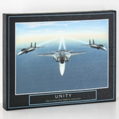 Unity Winged Fighter Jets Canvas Art Print