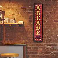 Framed LED Arcade Games Marquee Wall Plaque