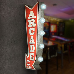 Vintage LED Arrow Arcade Games Marquee Plaque