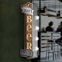 Vintage LED Metal Craft Beer Bar Marquee Plaque