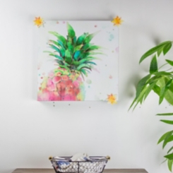 Watercolor Pineapple Magnetic Board with Magnets