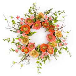 Orange Poppy Wreath