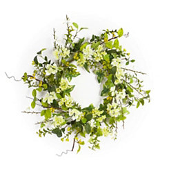 White Blossom Wreath