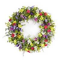 Multicolor Mixed Floral Wreath