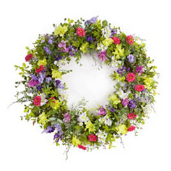 Multicolor Mixed Floral Wreath