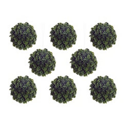 Green Sedum Orbs, Set of 8