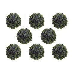 Green Sedum Orbs, Set of 8