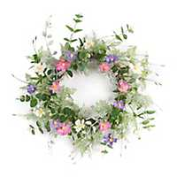 Pink and Purple Cosmos Sprig Wreath