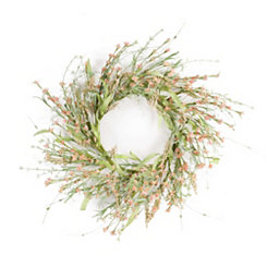 Peach Mini Floral Wreaths, Set of 2