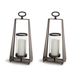 Antique Carriage Style Lanterns, Set of 2