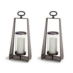 Antique Carriage Style Lanterns, Set of 2