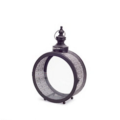 Round Black Tin Lanterns, Set of 2