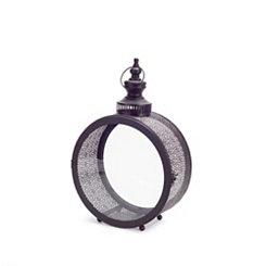 Round Black Tin Lantern
