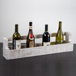 Whitewashed Wood Slat Storage Box