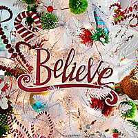 Red Believe Hanging Wall Plaque