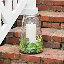 Wavy Glass Lantern, 15 in.