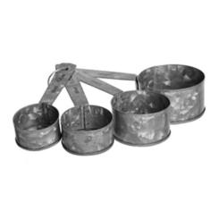 Galvanized Metal Measuring Cup Set
