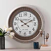 Tan Embossed Wall Clock