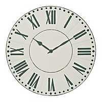 Mia Metal Enamel Wall Clock