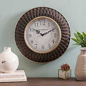 Abbi Bronze and Gold Woven Wall Clock