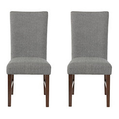 Gray Buttoned Harper Dining Chairs, Set of 2