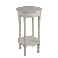 Round Antique Pearl Accent Table
