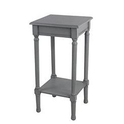 Square Vendee Gray Accent Table