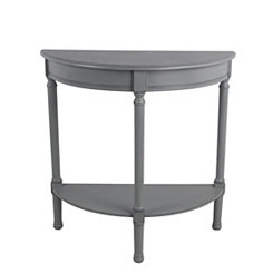 Half Moon Vendee Gray Accent Table