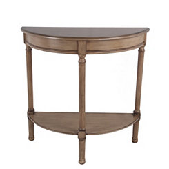 Half Moon Sahara Brown Accent Table