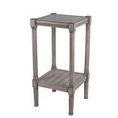 Shiplap Square Oyster Accent Table