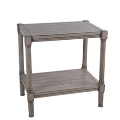 Shiplap Rectangular Oyster Accent Table