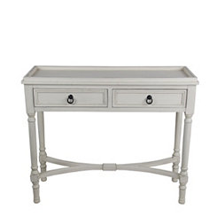 2-Door Antique Pearl Console Table