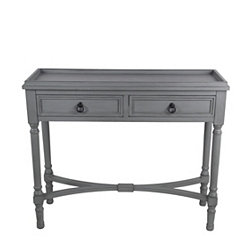 2-Door Vendee Gray Console Table