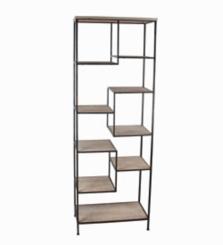 Wood and Iron Cubicle Shelf