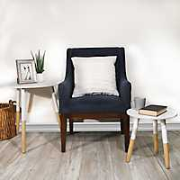 Lila White Top Pine Legs Accent Tables, Set of 2