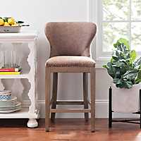 Justin Faux Leather Bar Stool