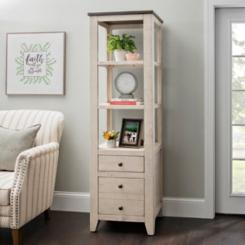 Cream Franklin 2-Drawer Shelf