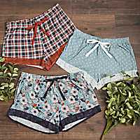 Fall Lace Trim Shorts