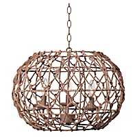 Knotted Rope 3-Light Pendant Light