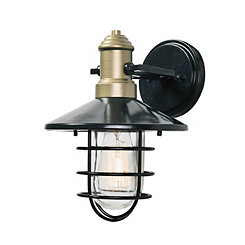 Outdoor Lantern-Style Two-Tone Sconce, 11 in.