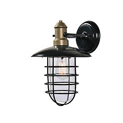 Outdoor Lantern-Style Two-Tone Sconce, 14 in.