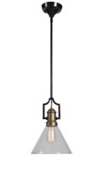 Olympia Antique Brass Pendant Light